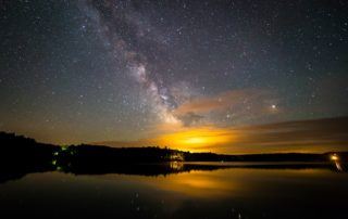 The Milky Way above Yawkey Lake in northern Wisconsin. (Photo by Joe Parks)