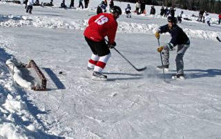 Playing To Win At Pond Hockey Championship In Eagle River