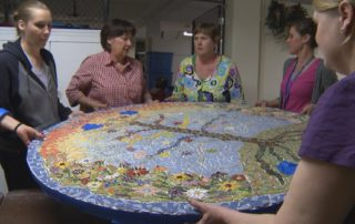 Central Wisconsin Center Staff Uses Mosaic Art Project To Inspire Its Developmentally Challenged Clients