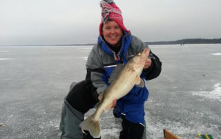 Barb Carey Introduces Women To Ice Fishing
