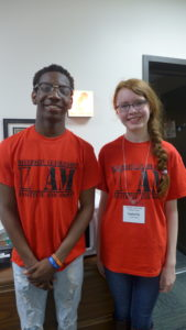 Diversity Leadership Institute campers Dexter Knutson and Isabella Dippel on the final day of camp.