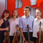 High School student musicians at Madeline Island Chamber Music during summer 2018.