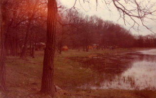 Camp Watchamagumee in 1985, a camp similar to Eric Dregni's childhood camp in the Wisconsin northwoods.