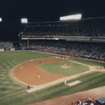 Inside Milwaukee County Stadium.