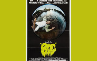 "Original movie poster for ""Bog."""
