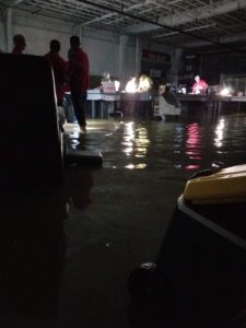 Inside the flooded Middleton, Wisconsin Costco.