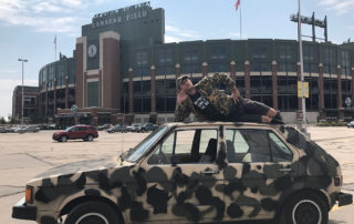 Charlie Berens at Lambeau Field in Green Bay, Wisconsin. (Photo courtesy of Charlie Berens)