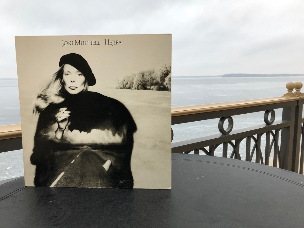 "Joni Mitchell's album ""Hejira"" at the Edgewater Hotel in Madison, Wisconsin. The album's photo shoot took place here in 1976 with photographer Joel Bernstein. (Maureen McCollum/WPR)"