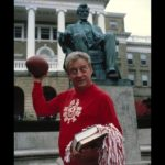 "Rodney Dangerfield from the film ""Back To School."" University of Wisconsin's Bascom Hall is in the background (MGM Studios)"