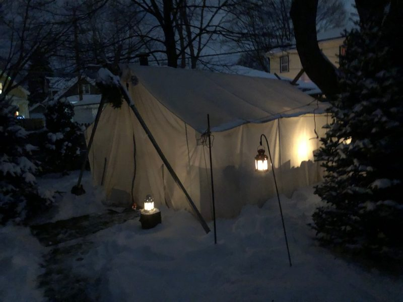 The poker tent (Steve Gotcher/WPR)