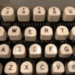 QWERTY on a typewriter. (Maureen McCollum/WPR)
