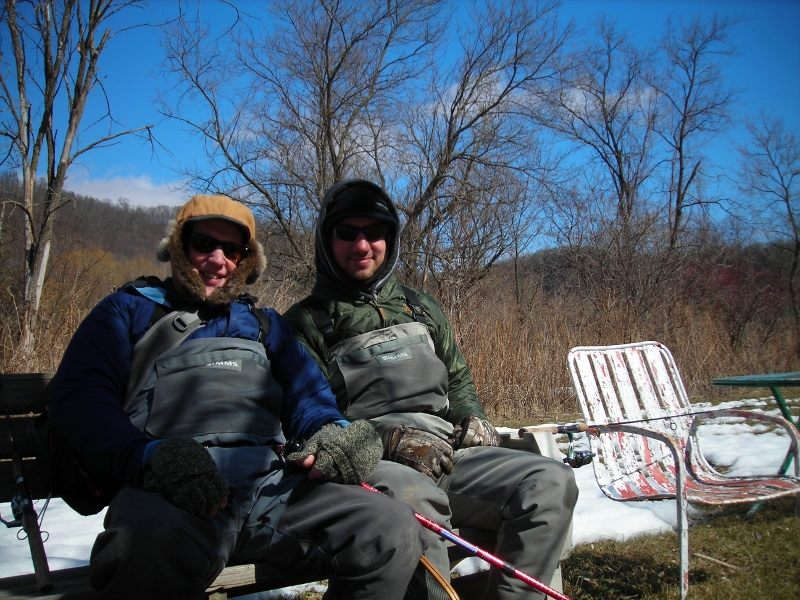 Ron and Kellen Davis fishing during early season. (Courtesy of Ron Davis)