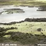 Aerial view of Lake Chetac near Birchwood. (Courtesy of Wisconsin Historical Society)