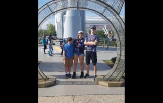 Thomas, Cierra, and Joshua Riederer on a family vacation in Florida. (Cortesy of Cierra Riederer)