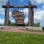 The Wisconsin welcome sign. (Photo by Michel Curi)