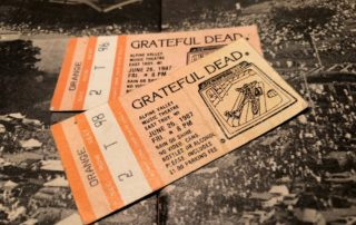 Ticket stubs from a Grateful Dead show at Alpine Valley in 1987. (Steve Gotcher/WPR)