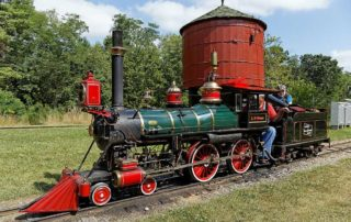 Riding On An Historic, Miniature Steam Locomotive
