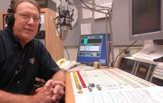 Glen Moberg in Wisconsin Public Radio's Wausau studio. (Courtesy of Rick Reyer)
