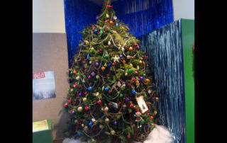 Bruce the Spruce at the Neville Public Museum in Green Bay. (Patty Murray/WPR)