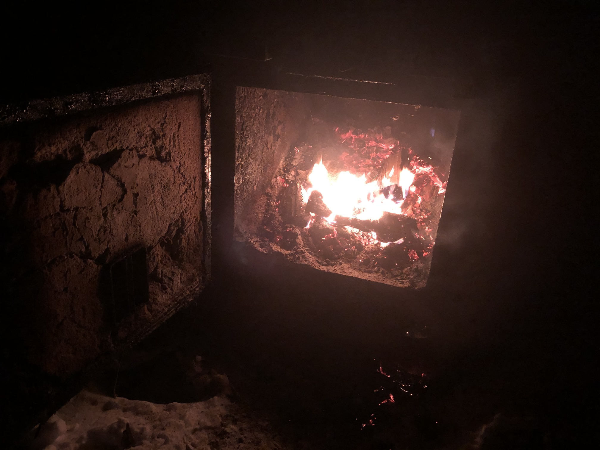 The outdoor wood furnace is hungry all winter. (Courtesy of Chris Hardie)