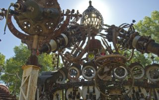 The Forevertron, the central sculpture of Dr. Evermor's sculpture garden near Baraboo, Wisconsin. (Photo by Joseph Kranak)