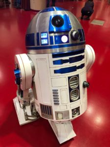 The R2-D2 built by Mike Masino of Madison, Wisconsin. (Maureen McCollum/WPR)