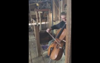 Cellist Performs at the Top of Historical Granary