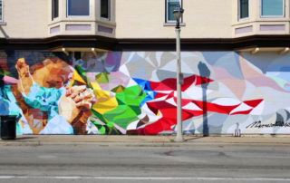 Artist Honors Healthcare Works with Milwaukee Mural