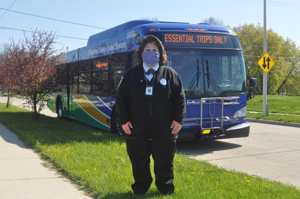 Milwaukee County Transit System bus driver Karen Martinez-Casper. (Courtesy of MCTS)