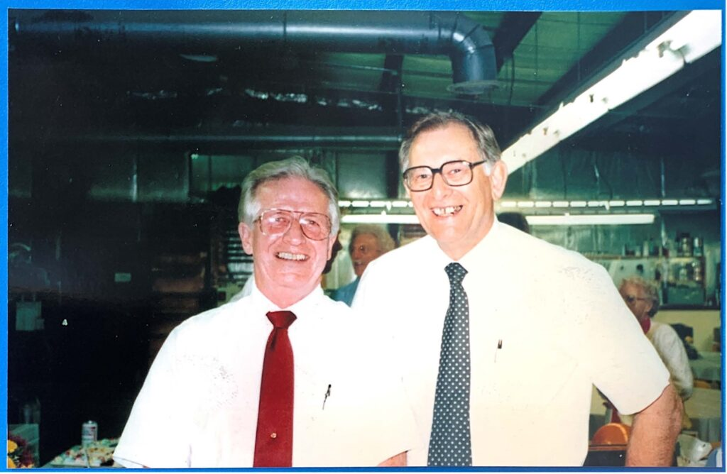 Writer Nancy Jorgensen's father, Quentin Smirl (left), and his business partner Howard Van Altena. (Courtesy of Nancy Jorgensen)