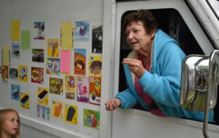 Sue Jensen, owner of Danee's Ice Cream Wagon, is retiring after 30 years. (Rob Mentzer/WPR)