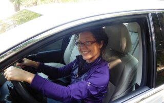 Crystal Chan behind the wheel and ready to take on the Fox Valley's roundabouts. (Photo by Viv Goupell)