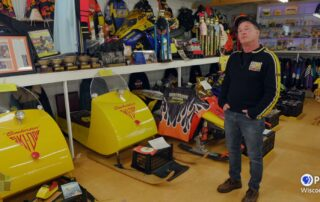 A Retired Snowmobile Racer Shows Off His Collection Of Classic Sleds