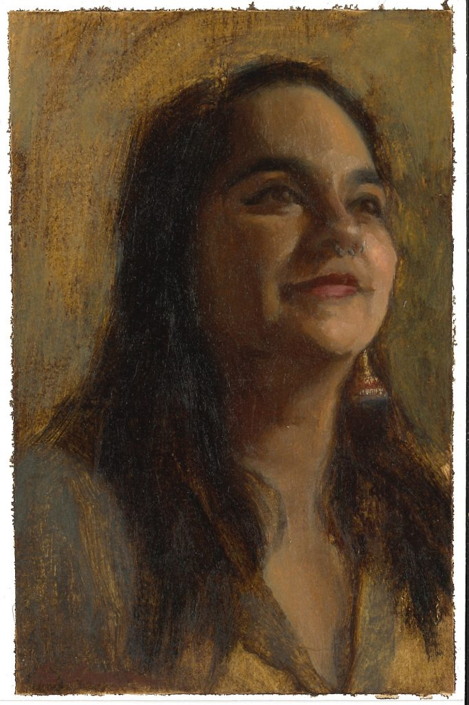 Portrait of Natasha Khan by Sonia Vasquez. (Courtesy of Rahr-West Art Museum)